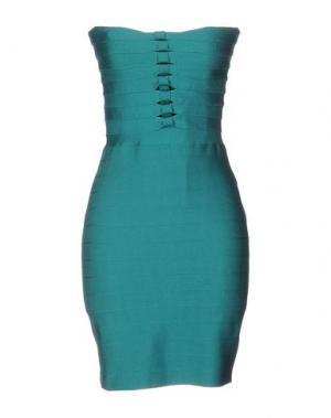 Короткое платье PINKO. Цвет: изумрудно-зеленый