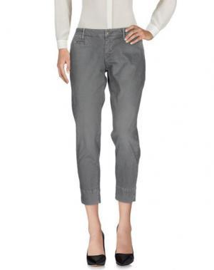 Повседневные брюки 0/ZERO CONSTRUCTION. Цвет: серый