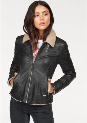Кожаная куртка Senerca Maze. Цвет: черный