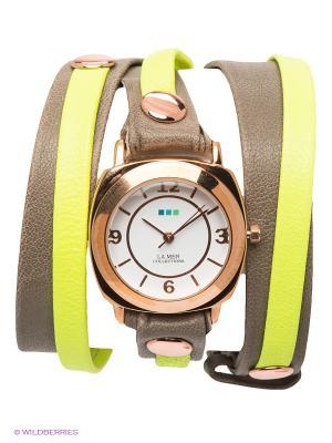 Часы La Mer Collections. Цвет: золотистый, желтый, серо-коричневый