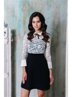 Платье из кружева с воротничком Self Made