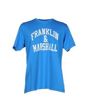 Футболка FRANKLIN & MARSHALL. Цвет: лазурный