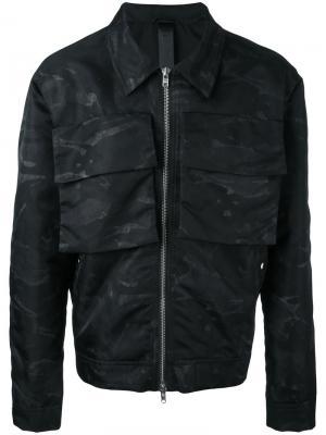 Камуфляжная куртка Box Odeur. Цвет: чёрный