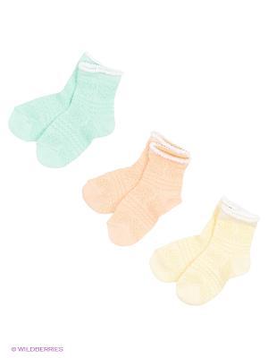 Носки - 3 пары Гамма. Цвет: желтый, оранжевый