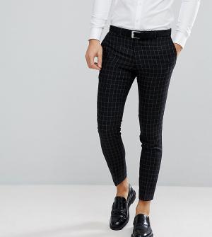 Noak Облегающие брюки в клетку. Цвет: черный