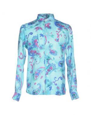 Pубашка MOSAIQUE. Цвет: бирюзовый