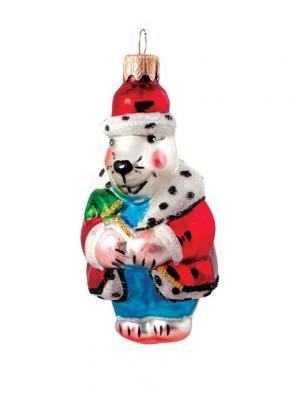 Ёлочное украшение Крот h-10см Карнавал-Премьер. Цвет: белый, темно-красный, красный