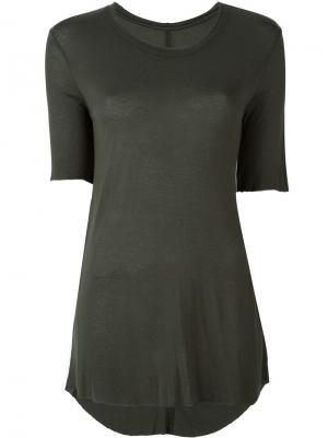 Классическая футболка Raquel Allegra. Цвет: зелёный