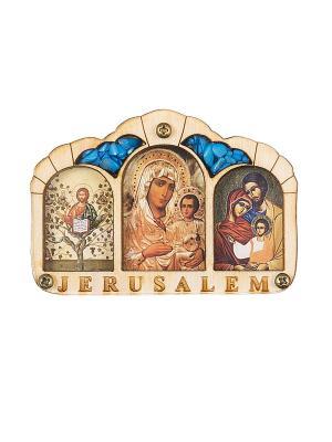 Триптих Благословение Водителя Иерусалим Holy Land Collections. Цвет: бежевый