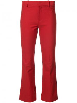Cropped Flare Trouser with Tuxedo Piping Derek Lam 10 Crosby. Цвет: красный