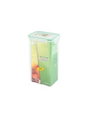 Контейнер герметичный 1,8 л XEONIC CO LTD. Цвет: прозрачный, зеленый