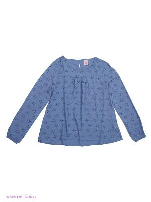 Блуза SELA. Цвет: синий