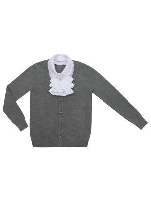 Джемпер 7 одежек. Цвет: темно-серый, белый
