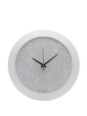 Часы настенные Mitya Veselkov. Цвет: белый