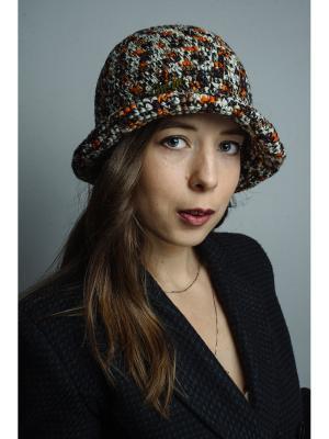 Шляпа Итальянская мозаика ТТ. Цвет: коричневый, белый, оранжевый