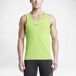 Мужская майка для бега  Dri-FIT AeroReact Nike. Цвет: зеленый