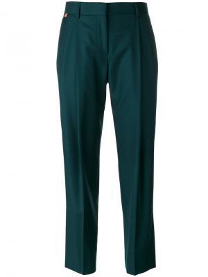 Укороченные брюки со складками Paul Smith. Цвет: зелёный