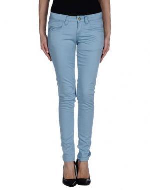 Повседневные брюки MONKEE GENES. Цвет: пастельно-синий