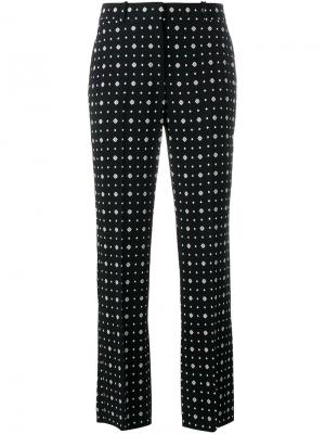 Прямые брюки с узором Givenchy. Цвет: чёрный