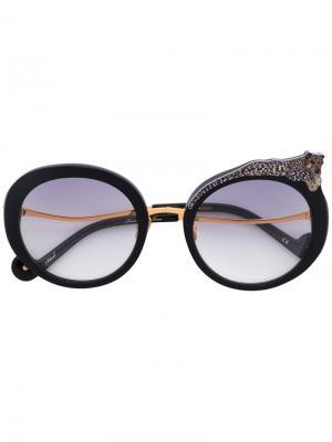 Круглые солнцезащитные очки Anna Karin Karlsson. Цвет: чёрный