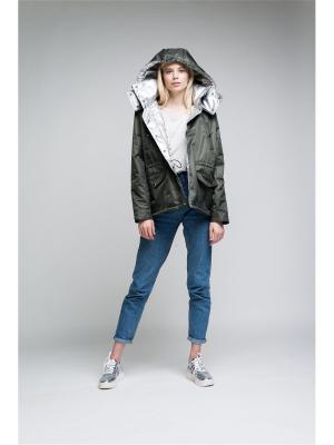 Куртка BURLO. Цвет: хаки