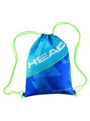 Мешок для обуви Tour Team Shoe Sack HEAD. Цвет: синий, голубой