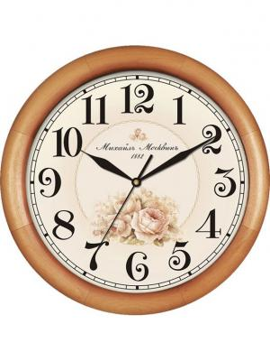 Часы настенные Михаилъ Москвинъ. Цвет: светло-коричневый