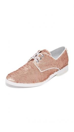 Ботинки на шнурках Adelaide Miista. Цвет: бронзовый