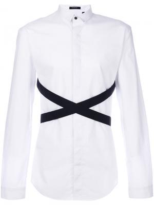 Рубашка с контрастными полосками Unconditional. Цвет: белый