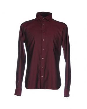 Pубашка EXIBIT. Цвет: красно-коричневый