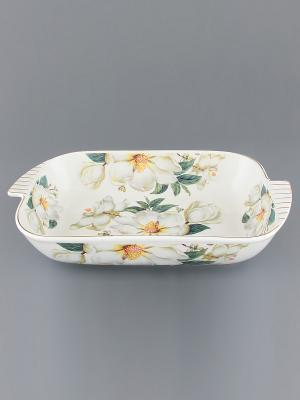 Шубница Белый шиповник Elan Gallery. Цвет: белый, зеленый