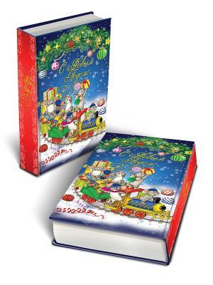 Декоративная шкатулка Новогодний паровозик и мышата (17*11*5см, из МДФ) Magic Time. Цвет: синий