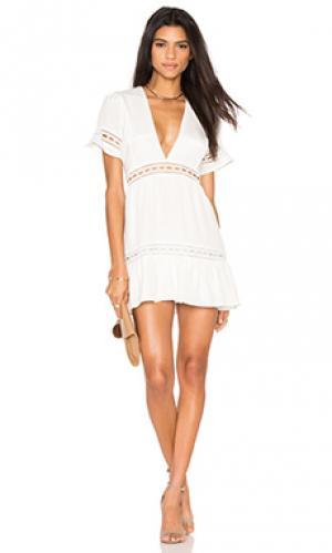 Мини платье verona STONE_COLD_FOX. Цвет: белый