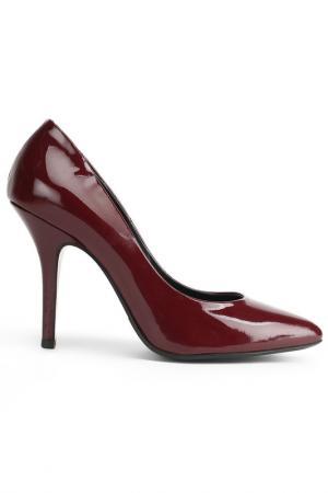 Туфли Zenux. Цвет: темно-бордовый