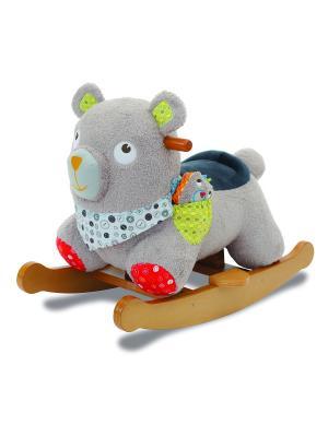 Детская качалка мишка Little Bird Told Me. Цвет: серый