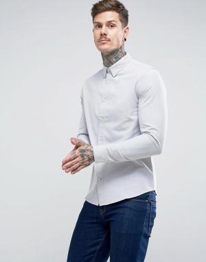 Dead Vintage Оксфордская рубашка. Цвет: серый