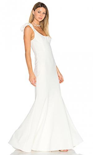 Вечернее платье с вшитым бюстгальтером breakers Rebecca Vallance. Цвет: белый