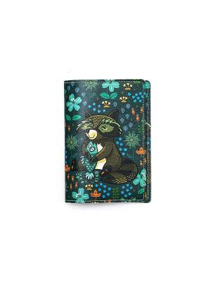 Обложка для паспорта  Енотики и рыба TonyFox. Цвет: коричневый, фиолетовый, черный, синий