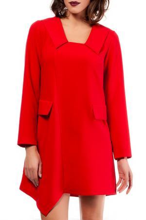 Платье BeWear. Цвет: красный
