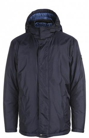 Куртка с воротником капюшоном Paul&Shark. Цвет: темно-синий