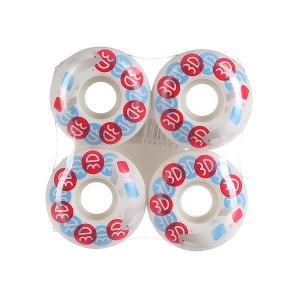 Колеса для скейтборда  Glasses 51 mm 3D. Цвет: красный,голубой,белый