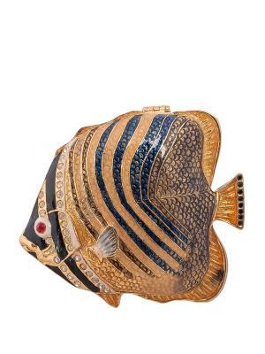 Шкатулка Рыба Nobility. Цвет: золотистый