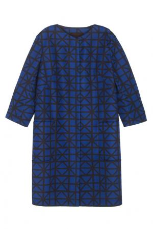 Прямое пальто Chapurin. Цвет: синий, черный