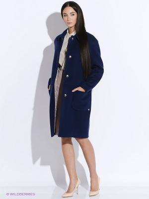 Пальто PAROLE by Victoria Andreyanova. Цвет: синий