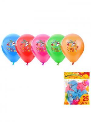 Набор воздушных шаров А М Дизайн. Цвет: голубой, малиновый, оранжевый, светло-зеленый, фиолетовый