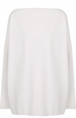 Пуловер свободного кроя с вырезом-лодочка Alaia. Цвет: белый