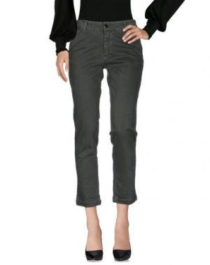 Повседневные брюки EDAS. Цвет: зеленый-милитари