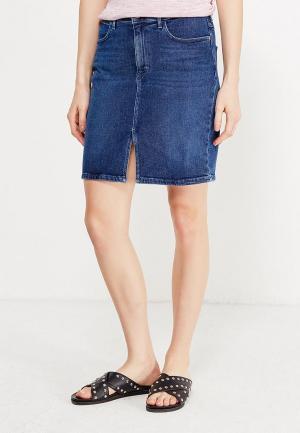 Юбка джинсовая Wrangler. Цвет: синий