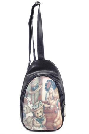 Рюкзак Rekotti. Цвет: черный, коричневый, белый