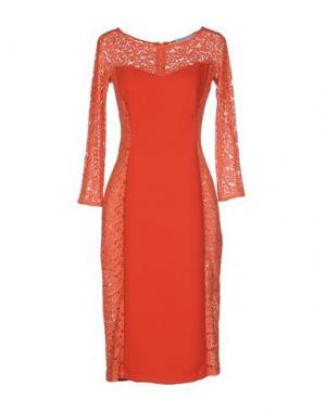Платье до колена ANGELA MELE MILANO. Цвет: красный